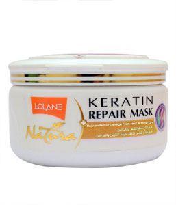 Picture of Lolane Keratin Repair Mask - Rejuvenate Hair Damaged From Heat & Blow Dry 200gm